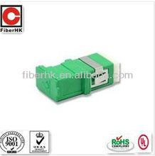 fiber optical adapter SC APC green body simplex single mode with shutter/cover