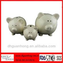 White Ceramic 3 in Ceramic Banks