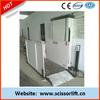 Hydraulic vehicle wheelchair lifts