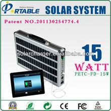 Off grid solar power system, 15W ACsolar kit for LED light, small tv