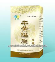 Niu Huang Jiang Ya Capsule ( hypertension / cerebral thrombosis / myocardial infarction )