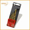 6piece HSS twist drill bit set, plastic case