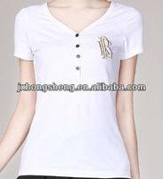 2013 woman popular 100% cotton printed t-shirt korea fashion ladies printed t-shirt