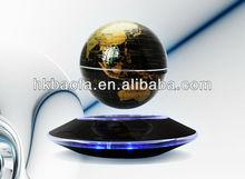Gold Electro Magnetic Levitation And Rotation Globe,floating globe,Floating world globe