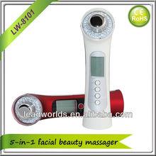 Ultrasonic ion photon and vibration facial massage device