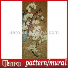 Lover bird decorative mural with handmade cutting bird mosaic pattern