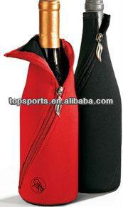 330ML Zip neoprene bottle holder beer cooler