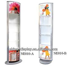 Round acrylic jewelry display,Cheap advertising display light box shelf, Floor Standing Light Box for Advertisting(Fix Type)