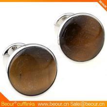 Antique Kennedy Times Mirror Tiger eye stone brown round Cufflinks ZB6512 - Wholesale Cufflink,cotton cufflink shirt
