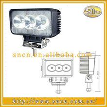 IP67 6000k LED worklight/3pcs*3w 12V led work light for pajero, for tractors