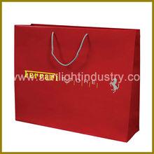 Red Custom Brand Name Gift Bag Company