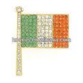 cristal vintageirlandaise drapeau broche