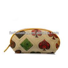 PU zipper closure clutch bag