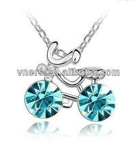 hawk pendant necklacefashion diamon crystal flat chain necklace