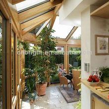 Aluminum clad Wood Insulating double glass beautiful garden room design