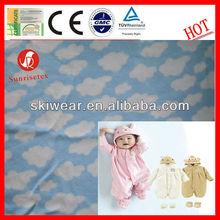 100% Polyester Anti Static Baby Print Polar Fleece Fabric