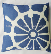 Blue Decorative Nautical Couch Throw Pillow