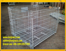 Collapsible Steel Container/Cage Steel Mesh Crates, Stacking Metal Cages, Sorage Metal Container
