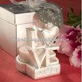 2013 novo design amor vela titular para a decoração do casamento