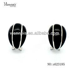 Fashion black resin alloy vintage earring