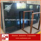Black mirror fleck quartz stone countertop