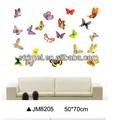 New Design removível adesivos de parede borboleta colorida armários de vidro decorativo janela decalque adesivo - etiqueta porta kw-jm8205