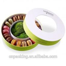 China supplier round cylinder macaron box