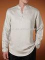 Caliente estilo hombres guayabera camisas de lino, bs5035