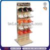 TSD-W127 Custom double side floor slatwall retail store display/wood hat display rack/wood display stand
