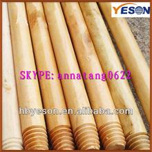threaded wooden floor stick varnished/2.5cm garden stick wood/yard stick wood