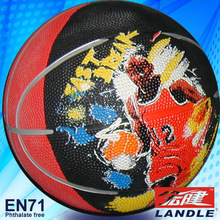 good new official size new style rubber made synthetic rubber basketball