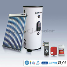 Split Pressurized Solar Water Heater With Heat Pipe and Working Station