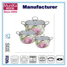 Indian enamel cookware sets sauce kadai cooker pan/kadai casserole non-stick cookware casserole 3pc pots set/Munika pots