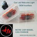 Marcas de automóveis Led Logo luz / Led logotipo do emblema auto Led auto sombra lâmpada