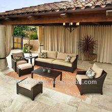 outdoor rattan sofa aluminum frame