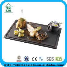 new design slate engraved dinner plate