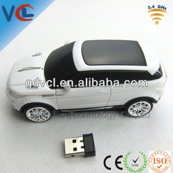 SUV wireless car model! VMW-89 usb Land Rover optical car mouse wireless white for gift items