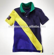 bulk knit cotton children clothes of kids polo shirts