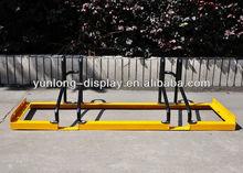 Heavy Duty Steel Floor Bicycle Display Stand At Supermarket Park