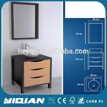 Soft Closing Modern Design Three Drawer Free Stand Melamine Bathroom Vanity Ideas