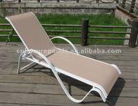 Most popular outdoor aluminium sling sunbed