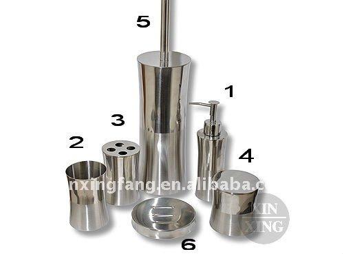 cuarto de ba o fij 6 unids de acero inoxidable accesorios