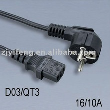 VDE power cord Plug 3C IEC 320 C13