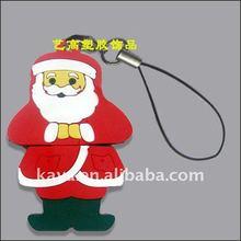 Soft pvc santa claus phone pendant for premium gifts
