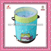 Blue polyester Pop-up laundry hamper/laundry basket