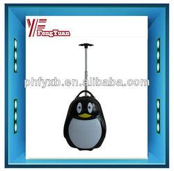 "2014 china alibaba student Populor New Design Children Penguin Luggage 17""/kids travel trolley bag/children cartoon luggage"