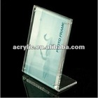 2015 hot new magnetic clear acrylic paper &picture table display stand