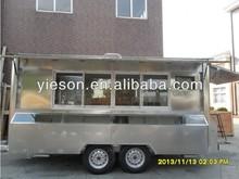 Mobile Fast Food Kiosk/Vending Carts for sale/coffee shop kiosk italian ice cream cart YS-FV450
