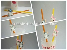 2012 Hot Sale Party Decorative Bar Accessories Lovely Cat figurine for drinking straw