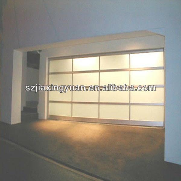 Frosted glass panel garage door view glass panel garage for Opaque garage door